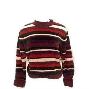 Liz Claiborne multicolor striped pullover